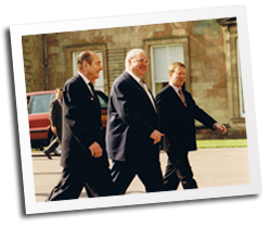 Welcoming Kohl and Mitterrand to Weston Park G8 Summit 1998